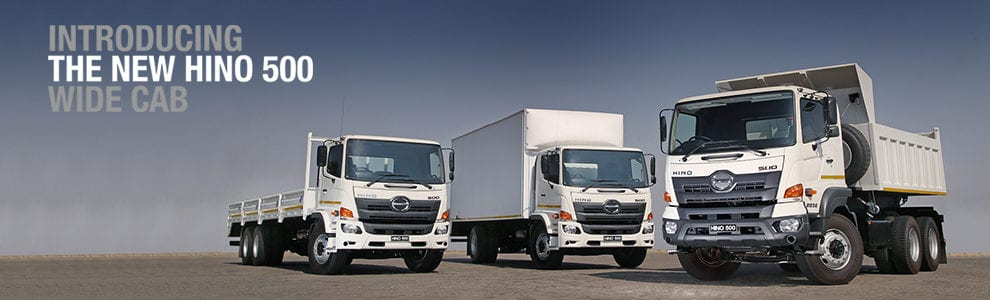 The New Hino 500 Wide Cab